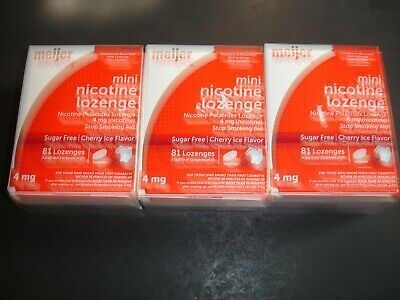 $ CDN32.79 • Buy 3 Meijer 4mg Nicotine Cherry Ice 243mini Lozenges Total,new Sealed Read Comments