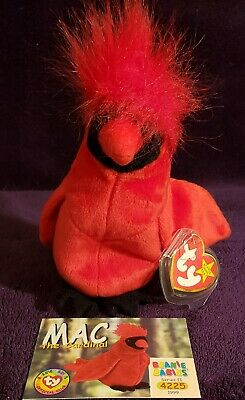 $359 • Buy Very Rare 4 Errors Ty Beanie Baby  Mac  Limiited Edition New Mint Condition!