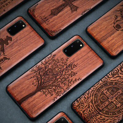 AU29.95 • Buy For Samsung Galaxy S21 S20 S10 Note 20 Ultra Plus FE Case Wood Protective Cover