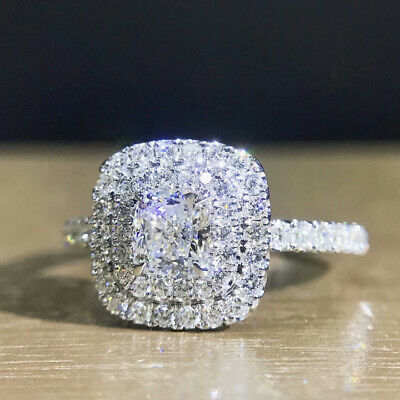 £2.95 • Buy Gorgeous Cubic Zirconia 925 Silver Rings Jewelry Women Wedding Rings Size 6-10