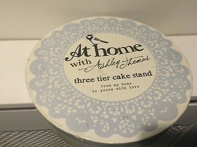 £10 • Buy At Home With Ashley Thomas 3 Tier Cake Stand