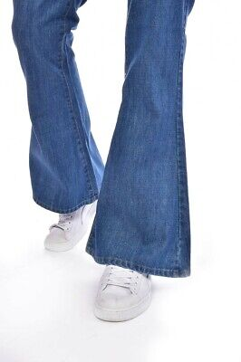 £19 • Buy Blue Stone Wash Run And Fly Bell Bottom Flares Waist 40