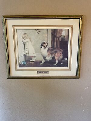 £141.58 • Buy A Special Pleader Charles Burton Barber Gold Framed Print Rough Collie Victorian