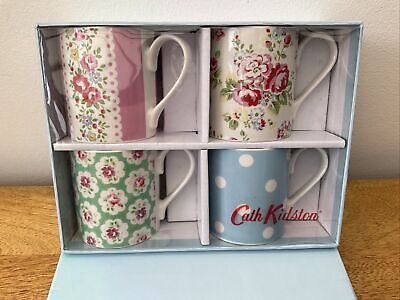 £18 • Buy Brand New Cath Kidston Set Of 4 Provence Floral Mugs Cups Fine China In Box