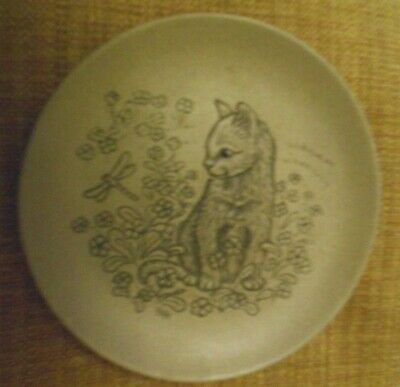 £1.99 • Buy Poole Pottery - Cat Series - Display Plate - Cat & Dragonfly In Stoneware