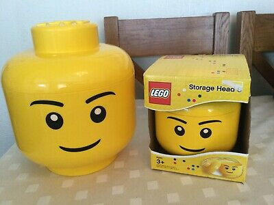 £21.99 • Buy Lego Head Storage Boxes X 2. Large And Small