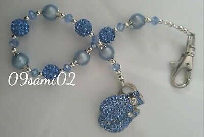 £8.50 • Buy Personalised Boys ❤ Bling Dummy Clip,blue Pearl & Crystal ❤ Romany Boxing Glove