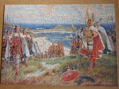 £13.99 • Buy A Vintage, Wooden Jigsaw By Chad Valley, The Vikings Landing At St.Ives