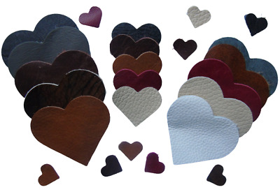 £3.59 • Buy Leather Hearts - 100% Genuine Leather, Offcuts, Remnants, Craft / 1-200-00219-15