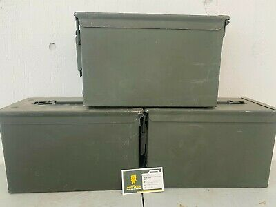 $40 • Buy 3 Pack Of .50 Cal Ammo Cans Can Box M2A1 M2A2