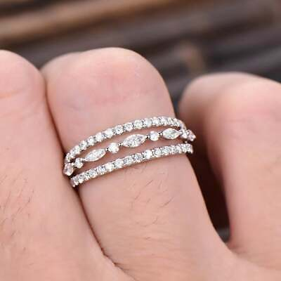 AU3.38 • Buy Charm Cubic Zirconia Jewelry 925 Silver Rings Women Gifts Party Rings Size 6-10