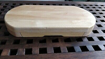 £10 • Buy Wooden Oval Cheese Board Set W/Integrated Drawer & 4 Cheese Knives - Used