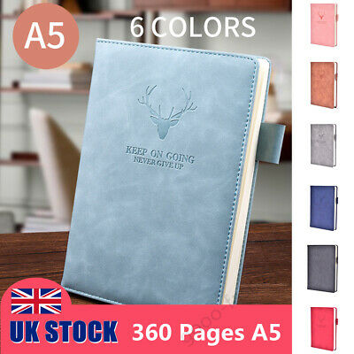 £5.69 • Buy A5 360 Pages Journal Notebook PU Leather Cover Traveler Lined Paper Diary