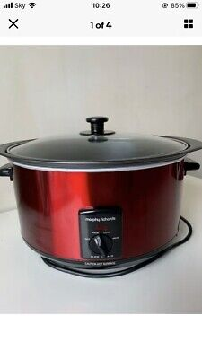 £15 • Buy Morphy Richards Sear And Stew Slow Cooker / Oval / Red - Hardly Used