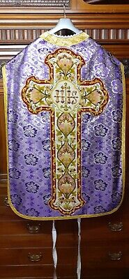 £450 • Buy Roman Planet Purple Chasuble Mass With Needlepoint Embroydery