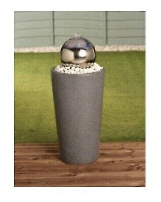 £169.99 • Buy New Stainless Steel Gazing Ball Water Garden Water Feature - Free P&P ✅