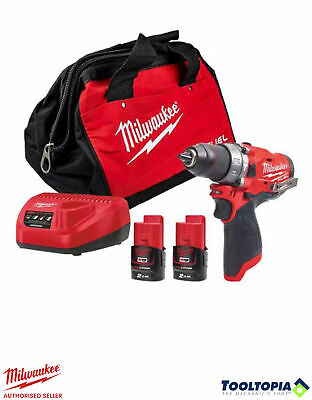 £149.99 • Buy Milwaukee M12 Fuel Cordless Combi Drill Kit With Bag, 2 Batteries And Charger