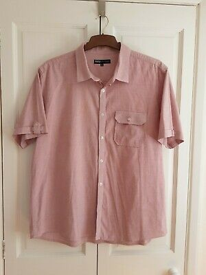 £2.40 • Buy Men's Short Sleeve Shirt, Red Chambray, Excellent Condition, Size XXL