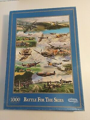 £6.99 • Buy Gibsons Battle For The Skies (Geoff Nutkins) 1000 Piece Jigsaw  FREE POSTAGE