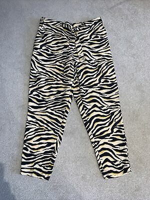 £5.99 • Buy F&F Zebra Animal Print High Waisted Trousers Plus Size 18 Summer Casual Belted L