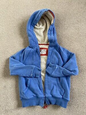 £5 • Buy Mini Boden Unisex Shaggy Lined Blue Hoody Size 5-6 Yrs