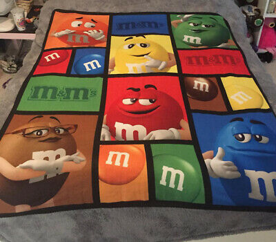 £7.99 • Buy M&Ms World -Soft And Colourful Polyester Fleece Character Blanket/Throw. Unused.