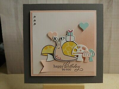 $10.99 • Buy Stampin Up  HAPPY BIRTHDAY TO YOU  CARD KIT, SNAIL MAIL Set/DSP, Gray/Pink-LARGE