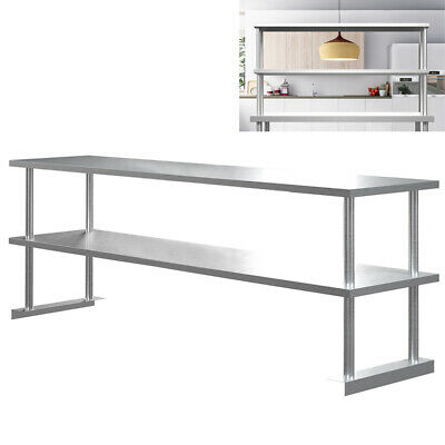 £62.95 • Buy Double Over Shelf Stainless Steel Food Prep Shelf Fits For Commercial Worktable