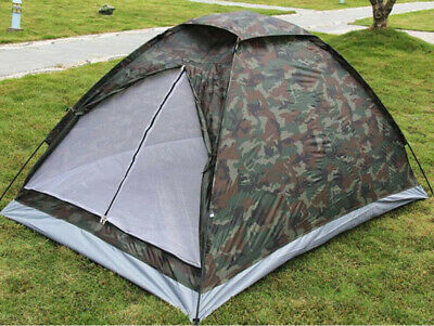 £18.99 • Buy Large Pop Up Hiking Tent 2 Man Fishing Family  Camping Outdoor Festival Shelter