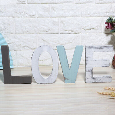 £11.99 • Buy Rustic Style Wooden Letters Decorative Wooden Block Word Signs For Household