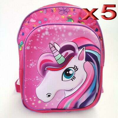 AU32.50 • Buy 5pc Wholesale Small 4D Kids Girls Unicorn Backpack Bags
