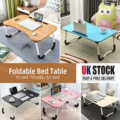£10.99 • Buy Folding Laptop Table Bed Tray Portable Computer Breakfast Desk Stand Adjustable