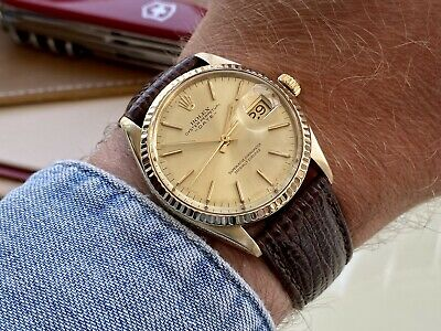 $ CDN8618.43 • Buy Rolex 1503 Oyster Perpetual Date 18K Solid Gold Automatic Vintage Men 1979 Watch