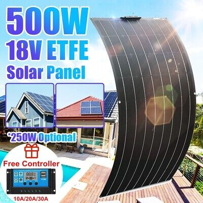£168.03 • Buy 500W 18V ETFE Flexible Solar Panel Kit High Efficiency For Yacht Home Camping