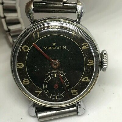 £139.47 • Buy Marvin Non Magnetic Military Style Women Mechanical Vintage Watch #www3