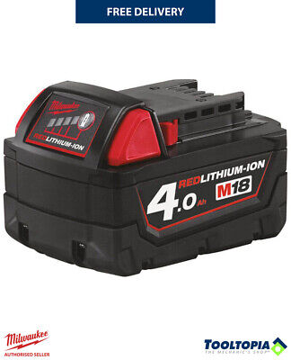 £34.80 • Buy Milwaukee M18 4.0Ah Red Lithium-Ion Replacement Battery