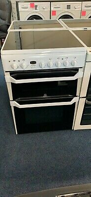 £265 • Buy INDESIT ID60C2/W 60 Cm Double Oven Electric Cooker In White-9735