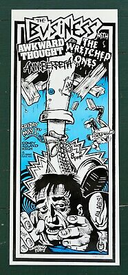 $20 • Buy The Business Wretched Ones Awkward Thought Concert Poster NYHC Hardcore Punk Oi!