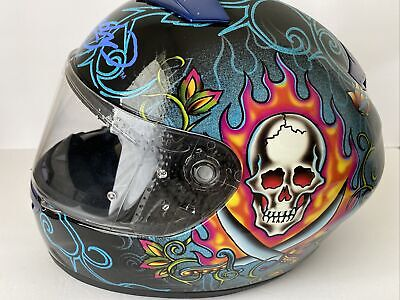 $89 • Buy Ed Hardy Free Forever Motorcycle Helmet M2005 Small