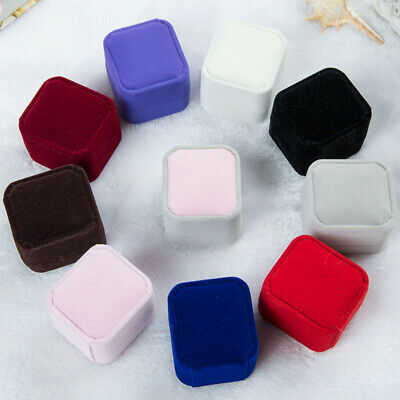 AU2.97 • Buy Squre Velvet Earrings Ring Boxs Wedding Jewelry Display Storage Case Gifts Boxes
