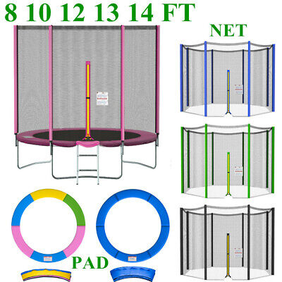 £24.99 • Buy 8-14FT Replacement Trampoline Safety Enclosure Net And Spring Cover Padding Pads