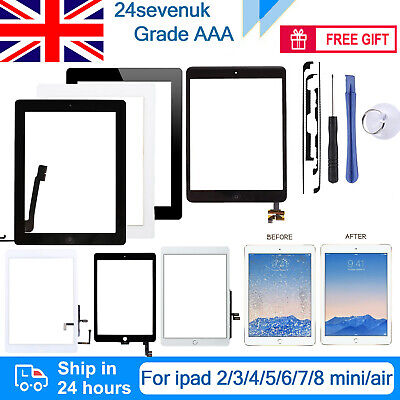 £9.29 • Buy For Apple IPad 2/3/4/5/6/7/8 Mini Air Screen Replacement Touch Digitizer OEM IC