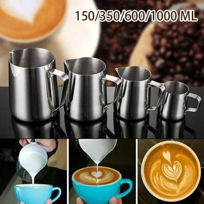 £5.99 • Buy Milk Frothing Jug Steel Frother Pot Jug Coffee Latte Container Pitcher DIY