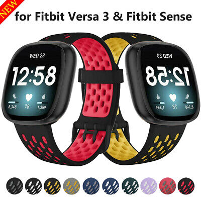 $ CDN9.63 • Buy For Fitbit Versa 3 Sense Soft Silicone Sports Wrist Band Watch Strap Replacement
