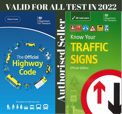 £8.99 • Buy NEW Official Highway Code Book & DVSA Know Your Traffic Signs Book 2021 Hw+Trfc