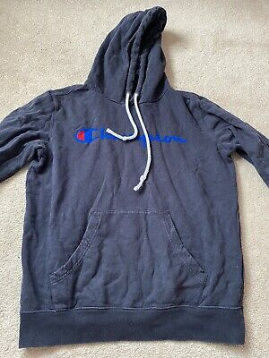 £4 • Buy Champion Navy Hoodie Size Small