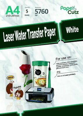 £7.99 • Buy Water Slide Decal Paper A4 LASER Waterslide Transfer Paper White - 5 Sheets