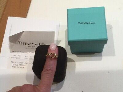 £1100 • Buy Tiffany & Co Diamond Ring In 18ct Yellow Gold In Original Boxes And With Receipt