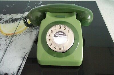 £31 • Buy GPO 2 Tone Green Rotary Dial Telephone Model 746F .Converted. Working Very Clean