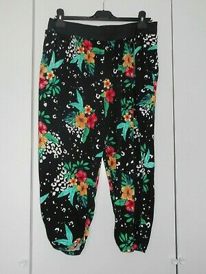 £3.99 • Buy Ladies Floral Animal Print Yours Cropped Hareem Trousers Size 16